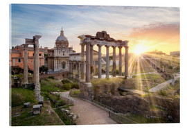 Acrylglas print  Sunset at the Roman Forum in Rome, Italy - Jan Christopher Becke