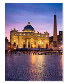 Premium poster St. Peter's and St. Peter's Square in Rome, Italy