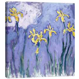 Canvas print  Yellow Iris with Pink Cloud - Claude Monet
