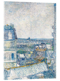 Acrylglas print  View from the Artist's Window, Rue Lapic - Vincent van Gogh