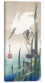 Canvas print  White heron and iris - Utagawa Hiroshige