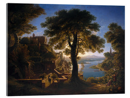 Acrylglas print  Castle on the River - Karl Friedrich Schinkel