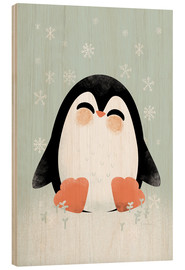 Hout print  Animal Friends - The Penguin - Kanzilue