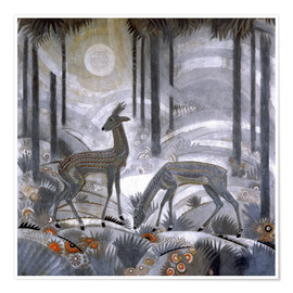 Premium poster Two deer in the woods