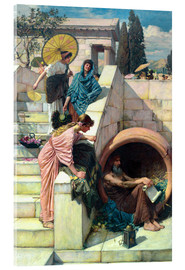 Acrylglas print  Diogenes - John William Waterhouse