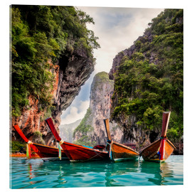Acrylglas print  Railay beach in Krabi Thailand