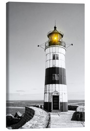 Canvas print  Lighthouse with yellow light