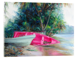 Acrylglas print  pink boat on side - Jonathan Guy-Gladding