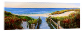 Acrylglas print  long beach path - Jonathan Guy-Gladding