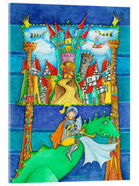 Acrylglas print  Knights Dragon and the Knight's Castle - Atelier BuntePunkt