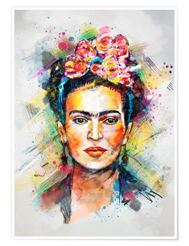 Premium poster Frida Flower Pop