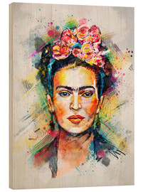 Hout print  Frida Flower Pop - Tracie Andrews
