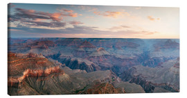 Canvas print  Panoramic sunrise of Grand Canyon, Arizona, USA - Matteo Colombo