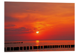 PVC print  Evening at Baltic Sea - wiw