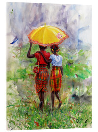 Acrylglas print  yellow parasol - Jonathan Guy-Gladding