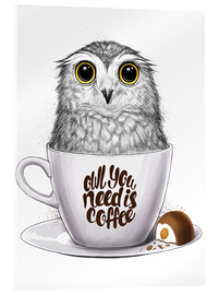 Acrylglas print  Owl you need is coffee - Nikita Korenkov