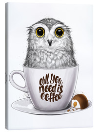 Canvas print  Owl you need is coffee - Nikita Korenkov
