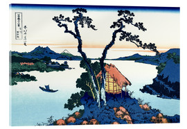 Acrylglas print  Lake Suwa, Shinano Province - Katsushika Hokusai