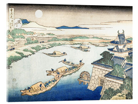 Acrylglas print  Moonlight on the Yodo River - Katsushika Hokusai