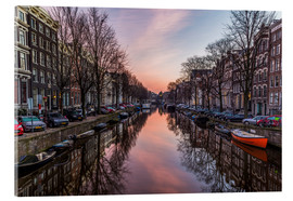 Acrylglas print  Amsterdam Canals at Sunrise - Mike Clegg Photography