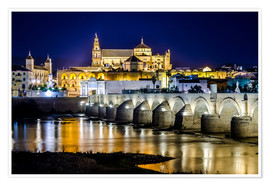 Premium poster Cordoba at night