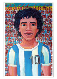 Premium poster Maradona and the crowd