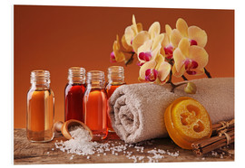 PVC print  Spa still life with essential oils and orchid - Elena Schweitzer