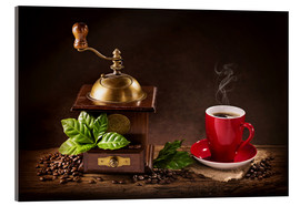Acrylglas print  Coffee mill with a cup of coffee - Elena Schweitzer