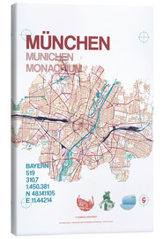 Canvas print  Munich city map - campus graphics