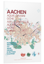 PVC print  Aachen city motif map - campus graphics