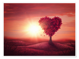 Premium poster Tree with heart shape