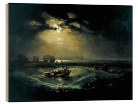 Hout print  Vissers op zee - Joseph Mallord William Turner