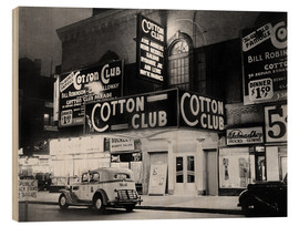 Hout print  Cotton Club in Harlem, New York