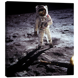 Canvas print  1st steps of human on Moon