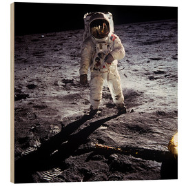 Hout print  1st steps of human on Moon