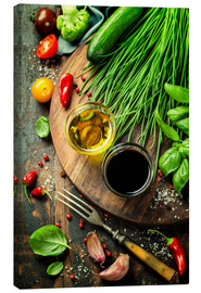Canvas print  Healthy bio vegetables and spices