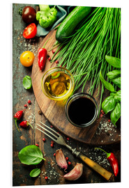 PVC print  Healthy bio vegetables and spices