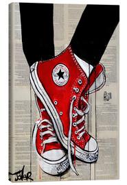 Canvas print  Not without my red shoes - Loui Jover