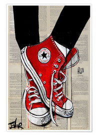 Premium poster  Not without my red shoes - Loui Jover