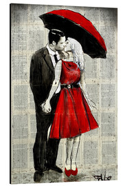 Aluminium print  She was wearing red - Loui Jover