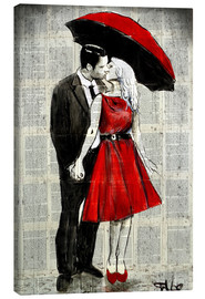 Canvas print  She was wearing red - Loui Jover