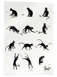 Acrylglas print  The cat and the frog - Théophile-Alexandre Steinlen