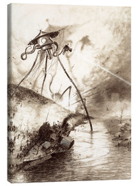 Canvas print  Martian Fighting Machine in the Thames Valley - Henrique Alvim Correa