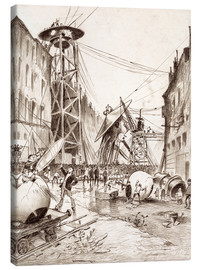 Canvas print  Humans Dissecting Martian War Machines - Henrique Alvim Correa