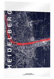 Acrylglas print  Heidelberg map midnight - campus graphics