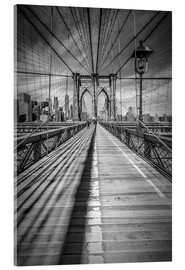 Acrylglas print  Brooklyn Bridge, New York City - Melanie Viola