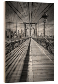 Hout print  Brooklyn Bridge, New York City - Melanie Viola