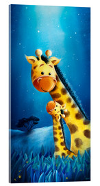 Acrylglas print  Giraffe mother with child - Stefan Lohr