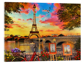 Acrylglas print  Paris Sunset - Dominic Davison