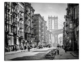 Aluminium print  Historic New York: Pike and Henry Streets, Manhattan - Christian Müringer